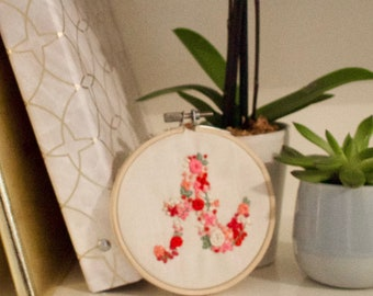 A-Z Hand Embroidered Wall Hoops