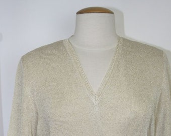 Cotton, viscose and lurex sweater