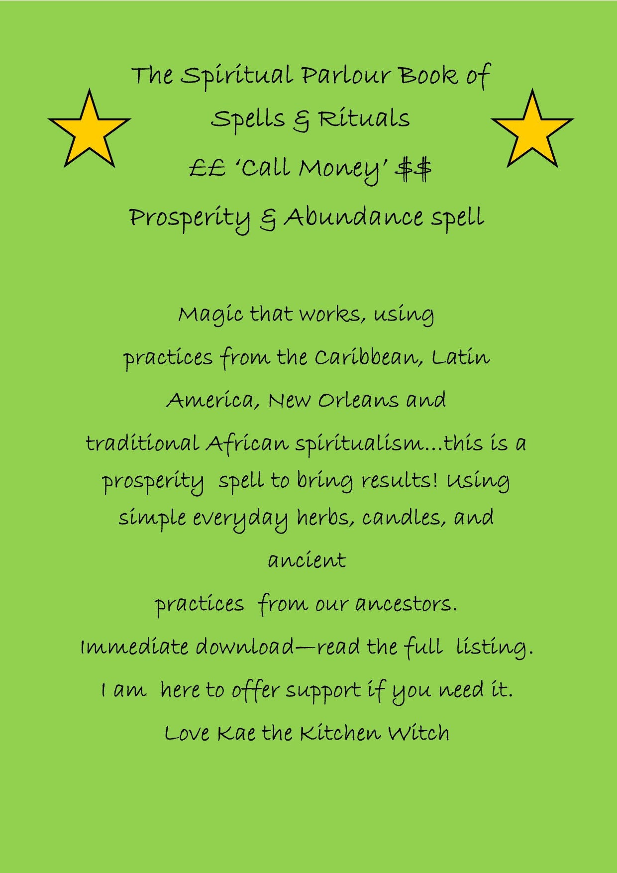 Money Spell, Money Ritual, Call Money, Abundance Ritual, Prosperity Candle,  Downloadable Spells, BOS, Hoodoo Spell