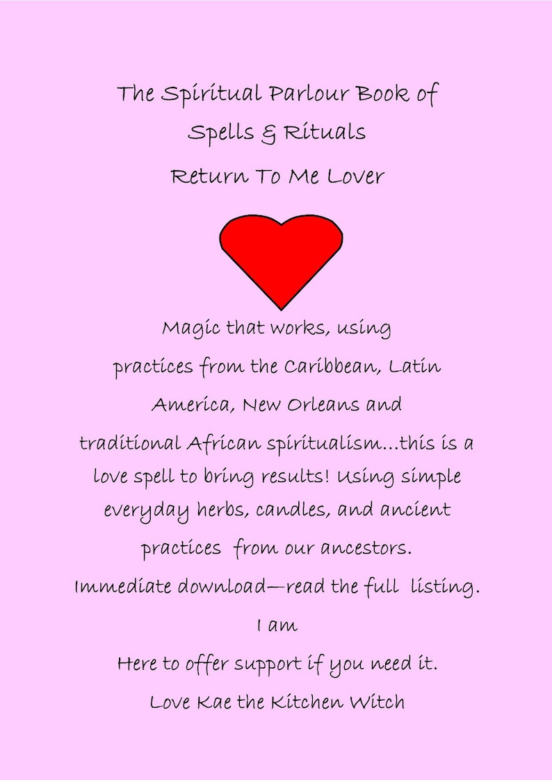 Reconcile With Lover, Love Spell, Hoodoo Spell, Come To Me Spell, Return To  Me Lover, Love Candle, Book of Spells , Return To Me lover, BOS