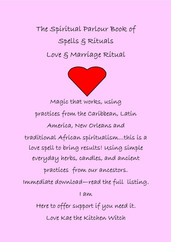 Love Ritual Love Spell Fall in Love With Me Hoodoo Spell | Etsy