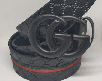 5be0e6b44276 Gucci Belt, Gucci Signature Belt, Double G Buckle, Unisex Belt, Mens Belt, Leather  Belt