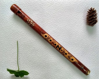 Wooden Penny Whistle Etsy