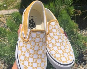 yellow checkered vans louis vuitton
