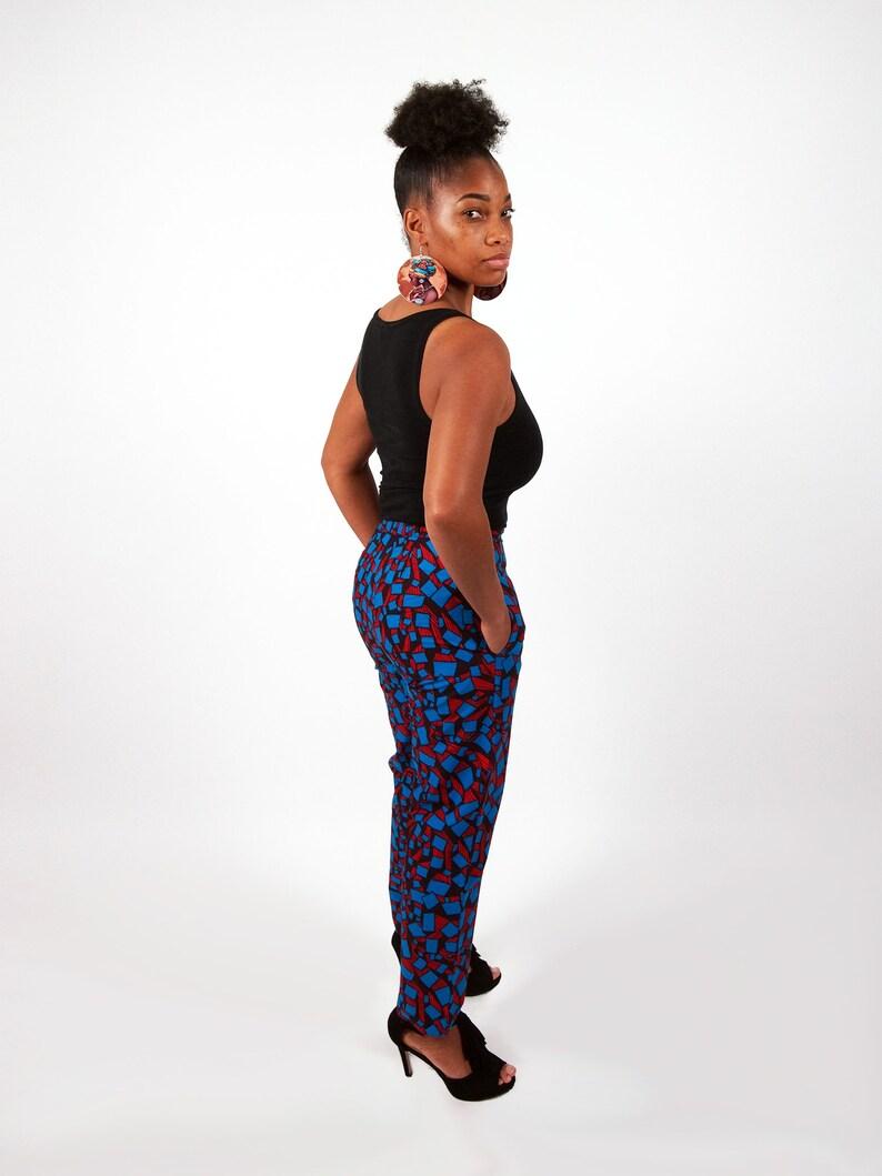 d11006e86c0e7f African print Blue Trousers CHINECHEZIRIM wax pants
