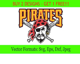 Pittsburgh Pirates Logos In SVG Eps Dxf Jpg Files INSTANT DOWNLOAD