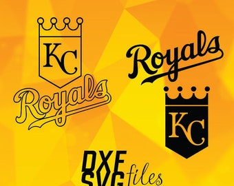 Kansas City Royals logos in SVG / Dxf / Png files INSTANT DOWNLOAD!