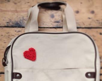 Crochet Heart Badge
