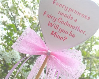 Magnetic fairy Godmother invitation wand