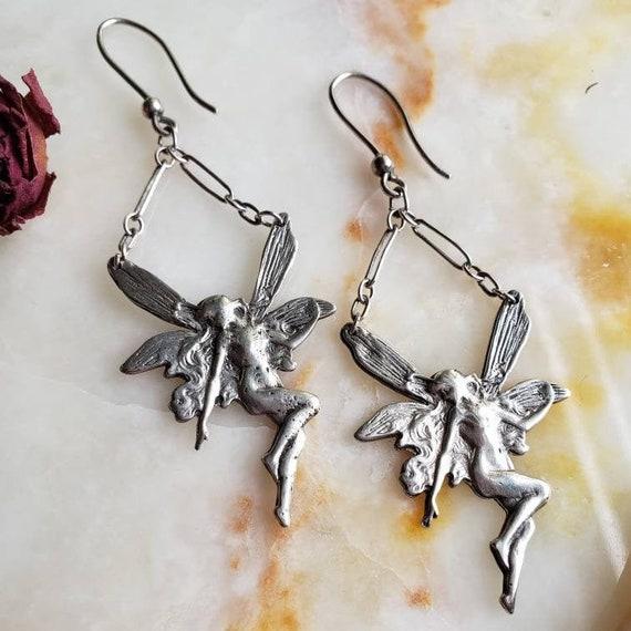 Sterling Silver Fairy Earrings