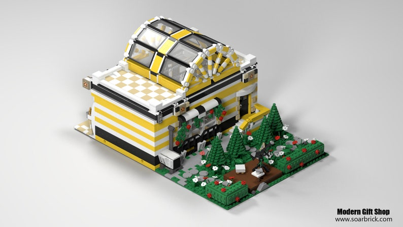 LEGO Custom MOC digital Building instructions - Modern Gift Store