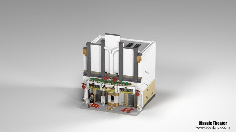 LEGO Custom MOC digital Building instructions - Old England Classic Theater