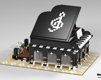 LEGO Custom MOC digital Building instructions - Modern Piano Store