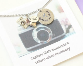 Camera Necklace Photographer Gift Jewelry For Friend Film Student 21st Birthday Acrylic Charm