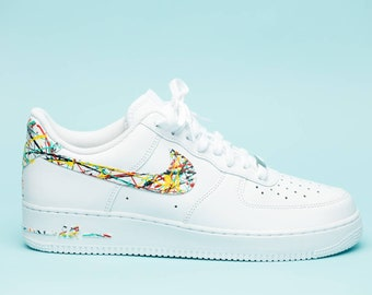 43ed8683032a0 Nike Air Force 1 splattered edition shoes custom hand made all sizes mens    womens   children