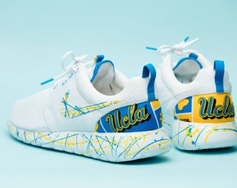 8247605af409 Nike UCLA Bruins White gym shoes custom hand made all sizes mens   womens    children