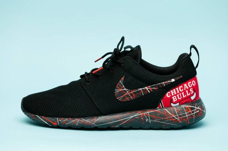 meet 097fb 98049 Nike chicago bulls gym shoes custom hand made all sizes mens     Etsy