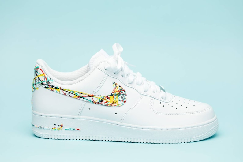 brand new 1ac4b 74b56 Nike Air Force 1 splattered edition shoes custom hand made all   Etsy