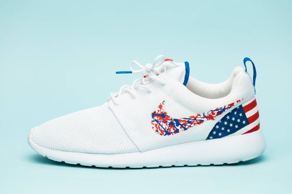 Drapeau Fait Nike Main De Sur Américain Sport Chaussures YwBIE