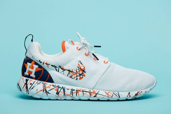 Nike Houston Astros gym shoes custom hand made all sizes mens  3d7073b6fd6