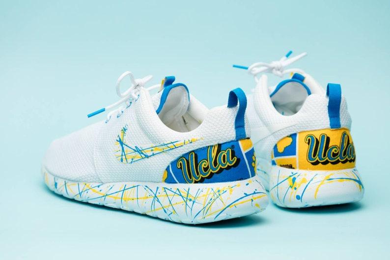 4d2ea1f04e448 Nike UCLA Bruins White gym shoes custom hand made all sizes mens / womens /  children