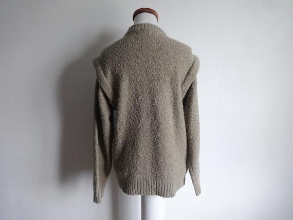 Ladies aran longer length cardigan KNITTING PATTERN fits 40-50 chest