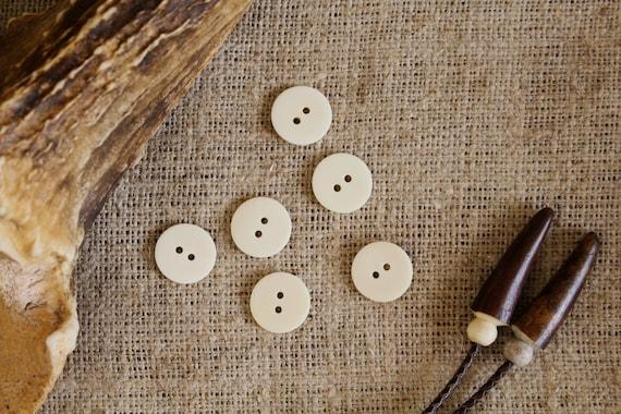 Natural Bone Buttons White Bone Buttons Bone Buttons Handmade Bone Buttons Handmade Sewing Bone Buttons White Bone Sewing Buttons