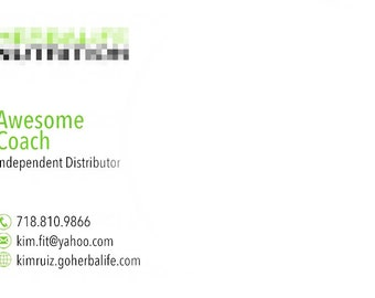 Independent Distributor Business Card