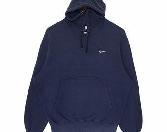 huge discount 57c76 fc9e7 Vintage Nike Sweatshirt Hooded Nike Small Logo Sweatshirt   Vintage Nike  Swoosh Sweatshirt Hoodie Small Logo Nike Embroidery Hoodie