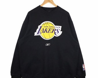 56bb0736e0bd7 Vintage Reebok Sweatshirt Nba Los Angeles Lakers Sweatshirt Crewneck