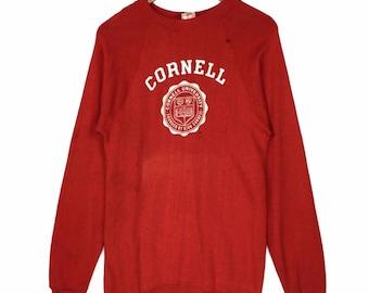 17d55589 Vintage 1970 - 1980s Cornell University Raglan Sweatshirt Crewneck