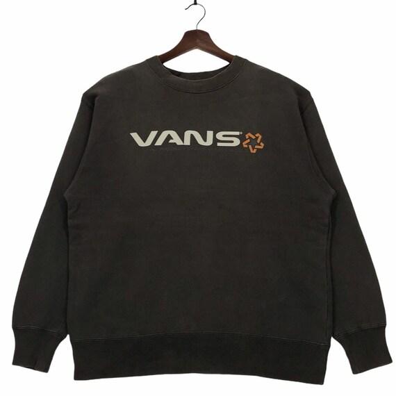 Vintage 90s Vans Sweatshirt Spellou Vans Of The Wa