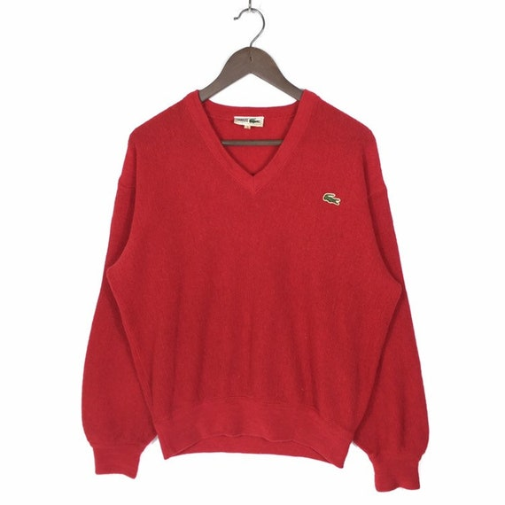 Vintage Lacoste Wool Jumper Pullover Red Lacoste J