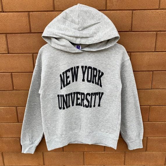 Vintage New York University Hoodie Sweatshirt Spel