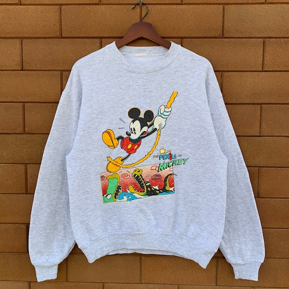 Vintage 80's The Perils Of Mickey Mouse Sweatshirt