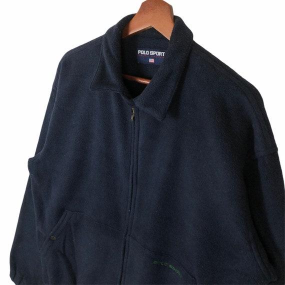 Vintage 90's Polo Sport Zip Up Fleece Jacket Polo… - image 4
