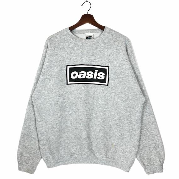 Vintage 90's Oasis Box Logo Sweatshirt Crewneck Oa