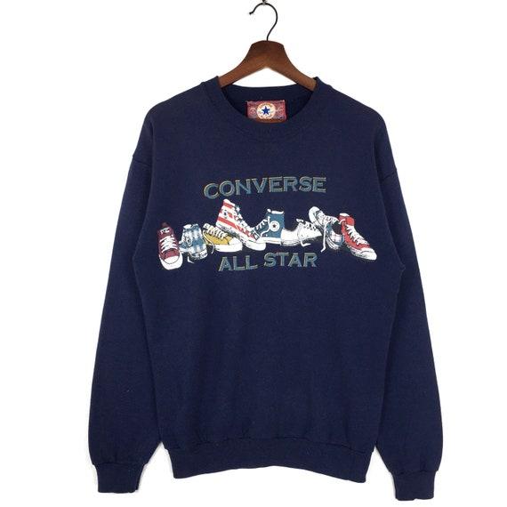 Vintage 90's Converse Sweatshirt Crewneck Printed