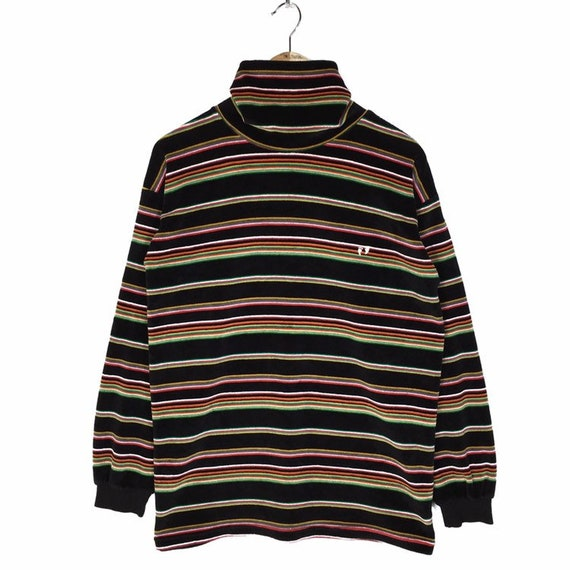 Vintage 90s Hang Ten Stripe Sweatshirt Multicolore