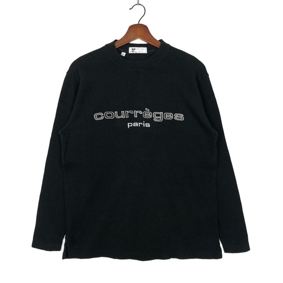 Vintage Courreges Paris Sweatshirt Crewneck Embroi