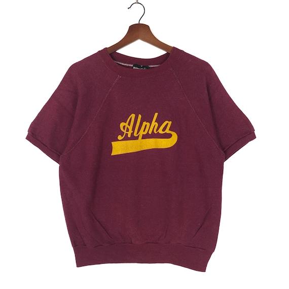 Vintage 80's Alpha Raglan Crewneck Sweatshirt Alph