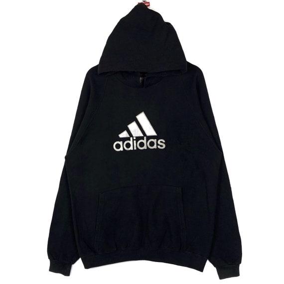 Vintage 90s Adidas Equipment Hoodie Pullover Big L