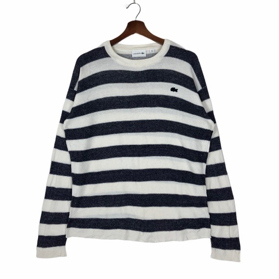 Vintage Lacoste Striped Sweater Jumper Pullover Sm