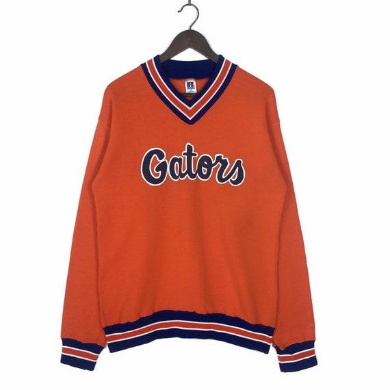 Vintage 1990/'s University of Florida UF Gators Crew Neck Sweatshirt Mascot Player Football Graphic XL Nutmeg