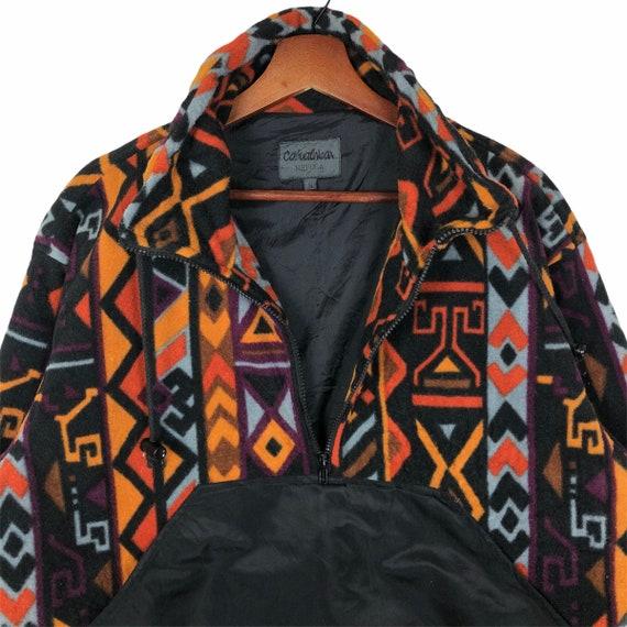 Vintage Multicolored Aztec Design Fleece Jacket N… - image 6