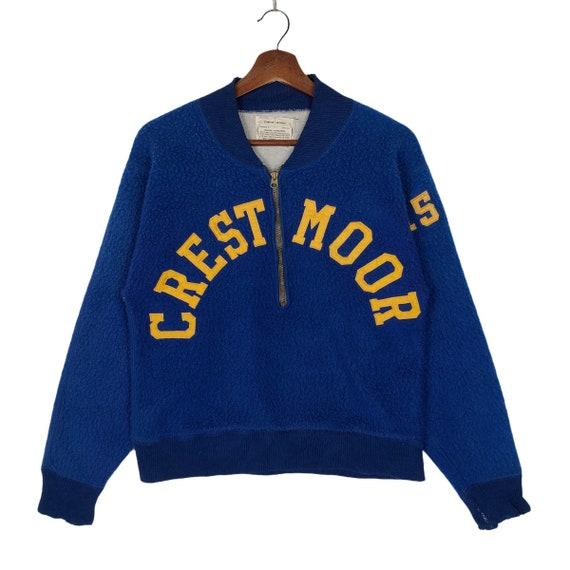 Vintage 40s 50s Champion Knitwear Crestmoor Half Z