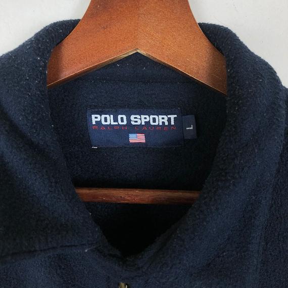 Vintage 90's Polo Sport Zip Up Fleece Jacket Polo… - image 7