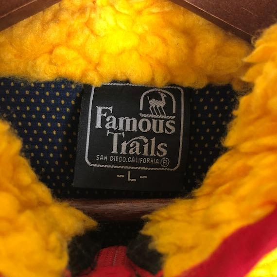 Vintage Famous Trails Fleece Jacket Deep Pile Fle… - image 5