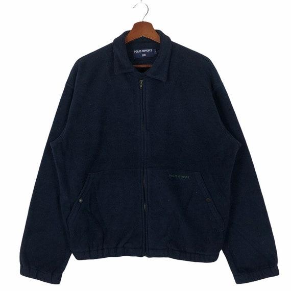 Vintage 90's Polo Sport Zip Up Fleece Jacket Polo… - image 1