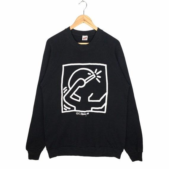 Collectible!! Vintage 1980s Keith Haring Sweatshir